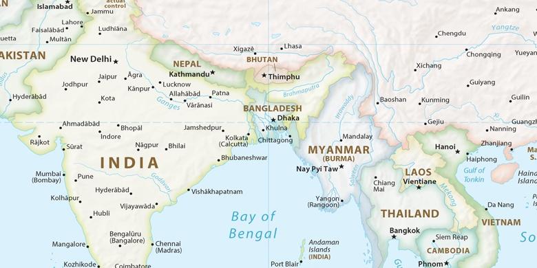 Carte Inde Calcutta.Calcutta Sur La Carte