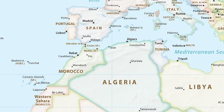 Carte Zeralda Algerie.Zeralda Sur La Carte