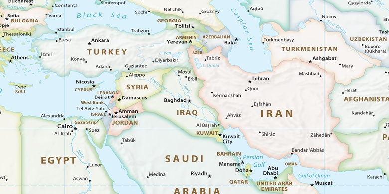Mossoul Sur La Carte